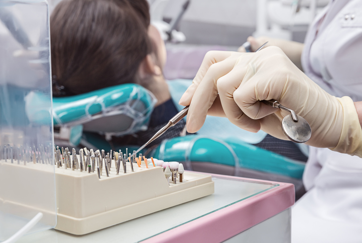 A woman having surgery at Placentia Oral Surgery